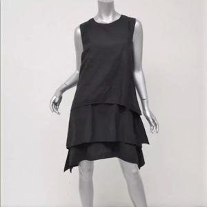 Brunello Cucinelli navy 3 layers dress w/ back zip